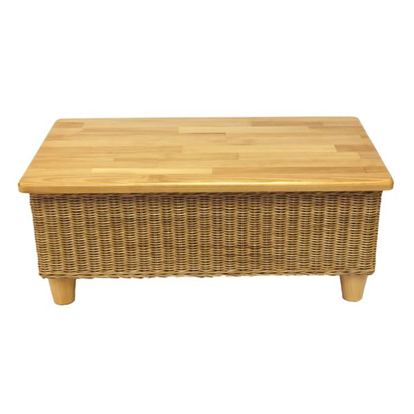 Wicker Coffee Table Indoor Uk: Alcester Natural Rattan Conservatory Storage Coffee Table