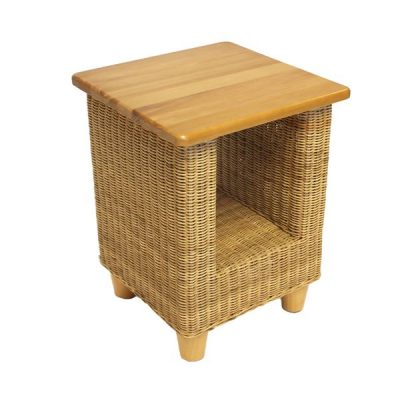 Alcester Natural Rattan Conservatory Side Table