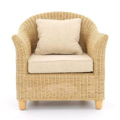 Alcester Natural Rattan Conservatory Armchair