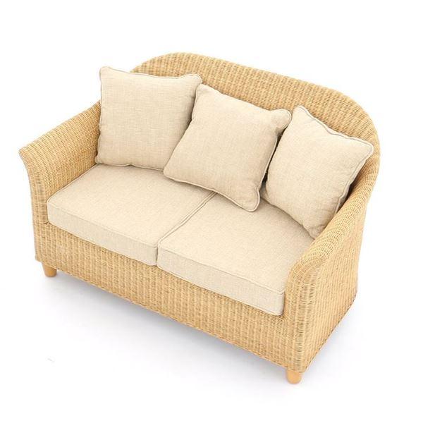 Fantastic Alcester Natural Rattan 2 Seater Conservatory Sofa Dailytribune Chair Design For Home Dailytribuneorg