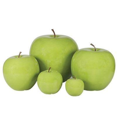 Small Green Apple Garden Ornament. Extra Large Green Apple Garden Ornament