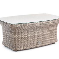 Sandbanks AquaMax Outdoor Rattan Glass Top Garden Coffee Table. Garden Furniture Rattan