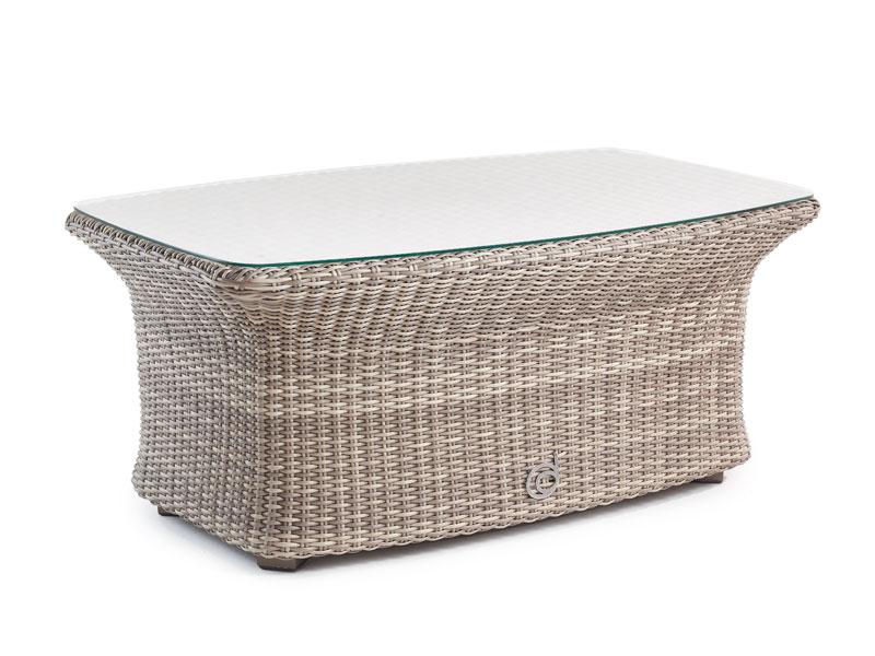 Sandbanks Aquamax Outdoor Rattan Glass Top Garden Coffee Table