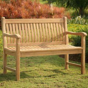 Auden 150cm Contoured Wooden Garden Bench