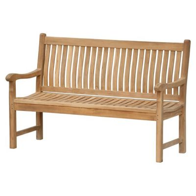 Auden 120cm Contoured Wooden Garden Bench 3 seater. Garden benches cheap