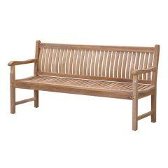 Auden 180cm Contoured Wooden Garden Bench. Teak garden benches