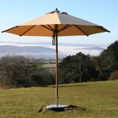 Irvine 250cm Octagonal Garden Parasol made from Sustainably Sourced Bamboo