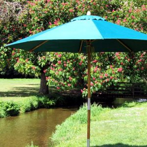 Irvine 350cm Octagonal Bamboo Garden Parasol made from sustainably sourced bamboo