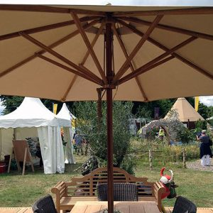 Irvine 300cm Octagonal Garden Parasol made from sustainably sourced bamboo