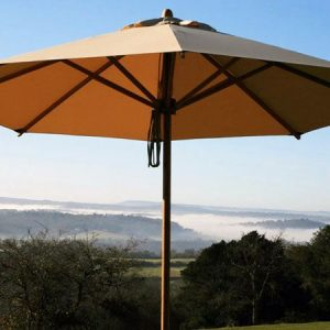Irvine 400cm Octagonal Large Garden Parasol made from sustainably sourced bamboo