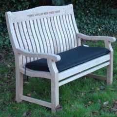 Bench Outdoor Cushion 150cm Black