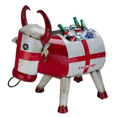 Bertie Bull England Novelty Party Ice Bucket Drinks Cooler Garden Ornament. Crazy Coolers by Aaron Jackson of Think Outside. Ideal Gift