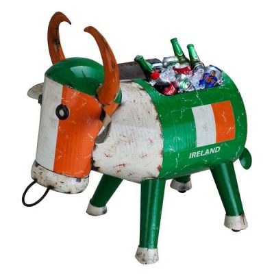 Ireland Metal Drinks Cooler Giant Ice Bucket 'Bertie Bull' Garden Ornament by Aaron Jackson of Think Outside