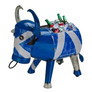 Scotland Party Ice Bucket Metal 'Bertie Bull' Drinks Cooler