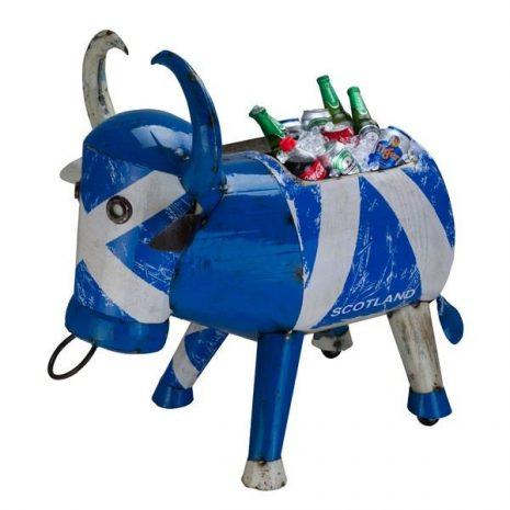 Scotland Party Ice Bucket Metal 'Bertie Bull' Drinks Cooler