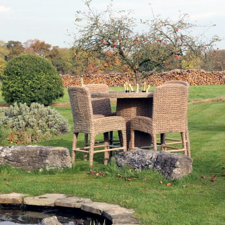 Bude Water Hyacinth Weave Bar Chair