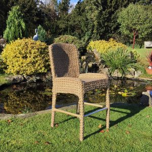 Bude Water Hyacinth Weave Bar Chair