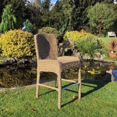 Bude Outdoor Rattan Garden Bar Stool Plus Backrest - Garden Rattan furniture