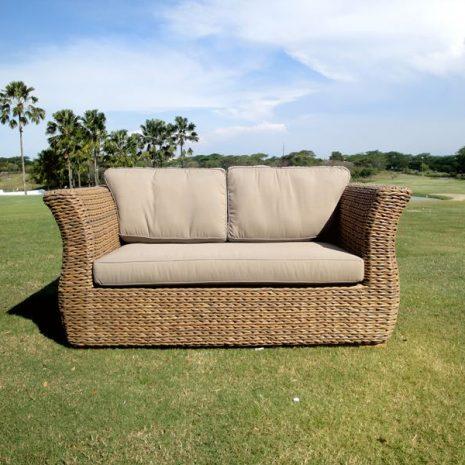 Bude Water Hyacinth Weave 2 Seat Sofa
