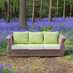Bude 3 Seater Outdoor Rattan Garden Sofa. Rattan garden furniture