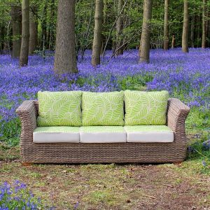 Bude 3 Seater Outdoor Rattan Garden Sofa. Rattan garden furniture