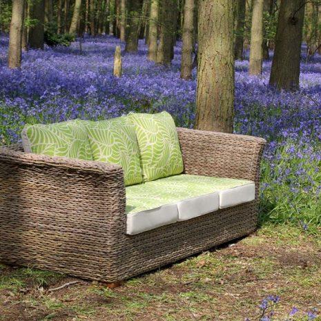 Bude Water Hyacinth Weave 3 Seat Sofa