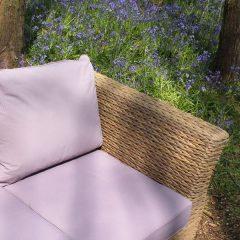 Bude Water Hyacinth Weave 4 Seater Sofa