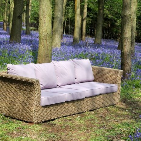 Bude Water Hyacinth Weave 4 Seater Sofa