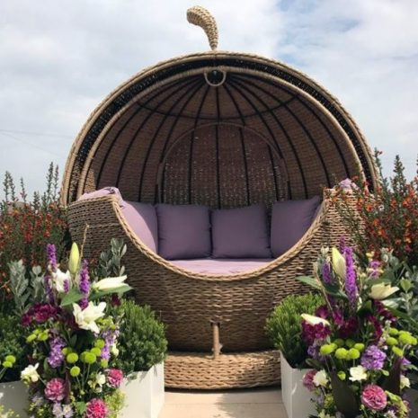 Bude Water Hyacinth Weave Apple Day Bed