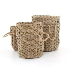 Bude Large Outdoor Rattan Basket