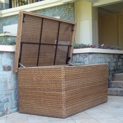 Bude Large Outdoor Rattan Storage Box