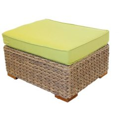 Bude Outdoor Rattan Footstool Plus Cushion