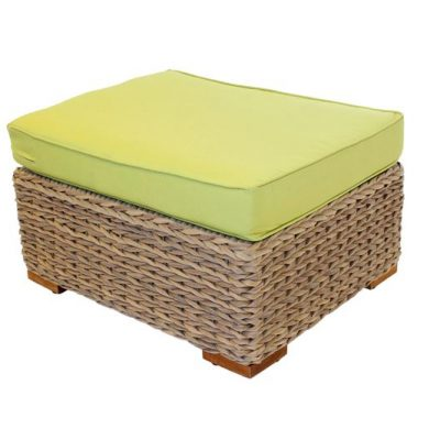 Bude Outdoor Rattan Footstool Plus Cushion