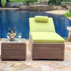 Bude Rattan Sun Lounger Plus Cushion