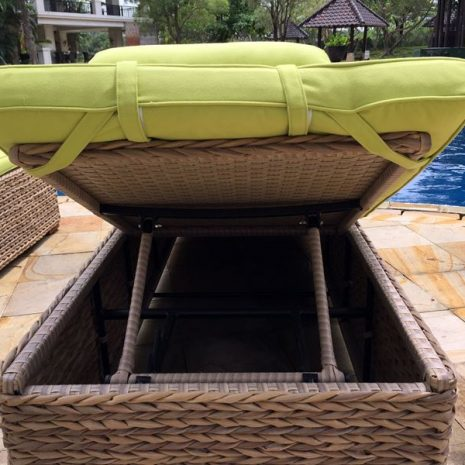 Bude Water Hyacinth Weave Sun Lounger