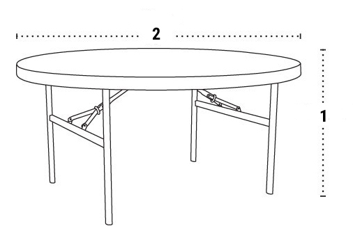 Furniture Dimensions - Circular Table