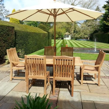 Constable extending teak table 1.8 - 2.4m Oval and Square End