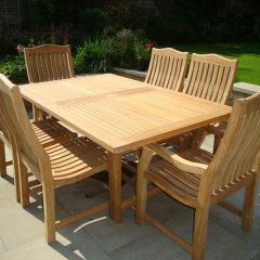 extending teak table 1.8 - 2.4m Oval and Square End