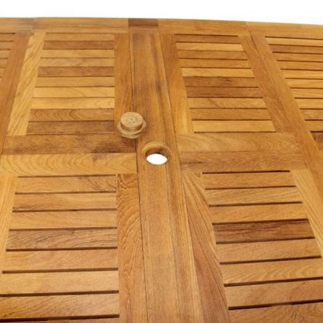 Constable extending teak table 2.3 - 3m Oval and Square End