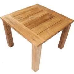 Constable Sustainable Teak 1m Square Garden Table