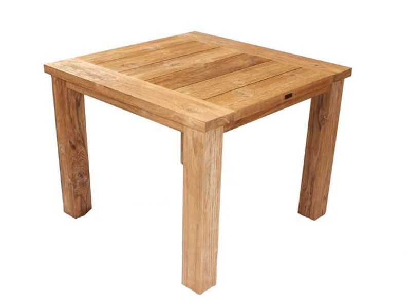 Constable Sustainable Teak 1m Square Garden Table Free