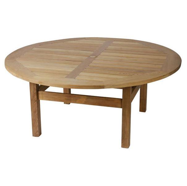 Constable 210cm Round Teak Garden, Round Teak Outdoor Table