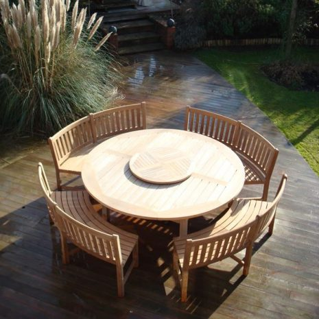 Constable 2.1m Round Teak Table