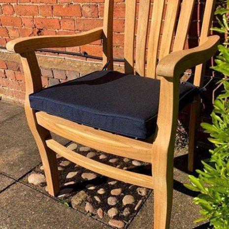Dark Bue Outdoor Seat Cushion