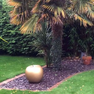 Extra Large Golden Apple Garden Ornament