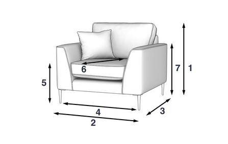 Conservatory Armchair dimensions