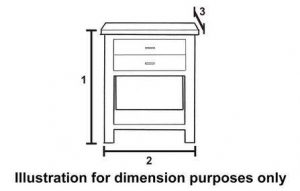 Furniture Dimensions - Side Table