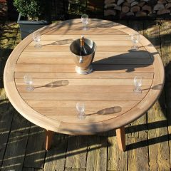 Gainsborough 150cm Sustainable Teak Round Garden Table