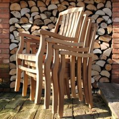 Gainsborough Sustainable Teak Stacking Garden Armchair