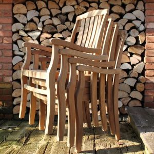 Gainsborough Sustainable Teak Stacking Garden Armchair – Set of 4